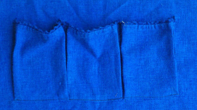 pockets in lining of remade bag
