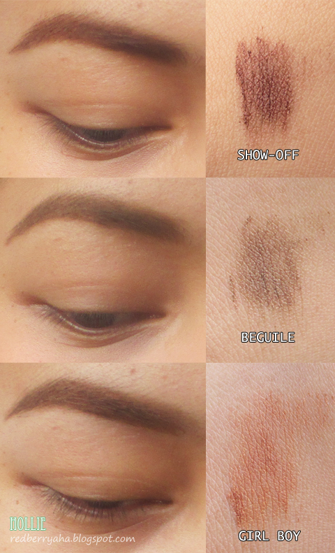Random Beauty By Hollie Mac Brow Set Swatches