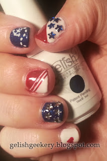Gelish Polish 4th of July Nautical