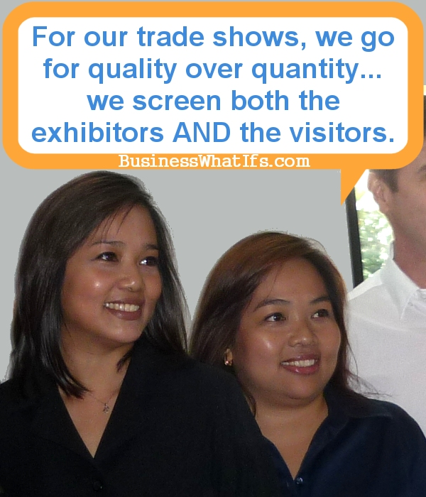 Bogee Romero and Raquel Romero, organizers of Corporate Giveaways Buyers' Show