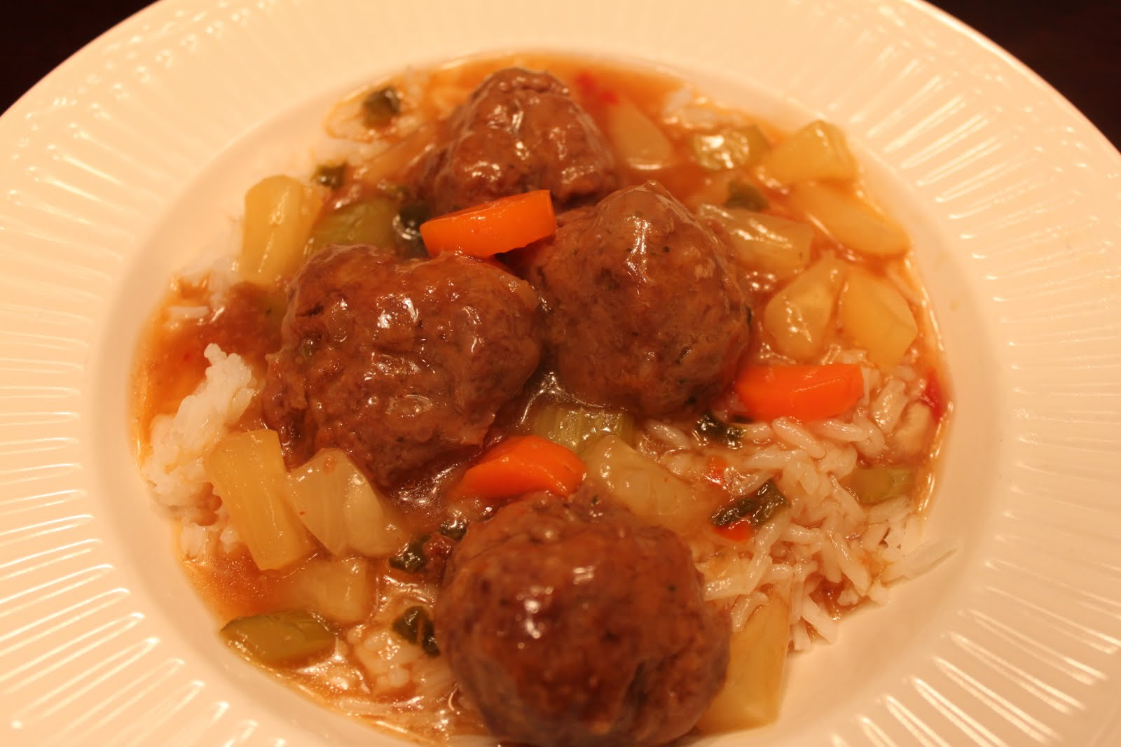 Sweet and Sour Meatballs | Dina's Diner