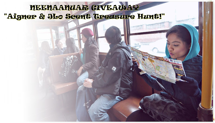"NeenaAnuar GIVEAWAY ""Aigner & JLo Scent Treasure Hunt!"""