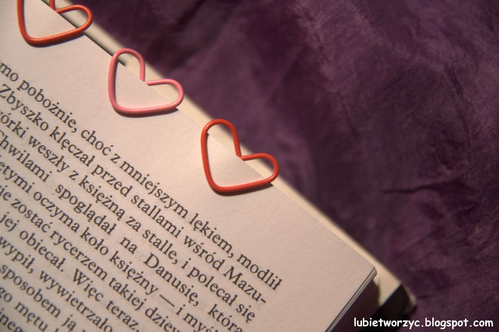 Lubię Tworzyć Zakładka Do Książki Serce Ze Spinacza Biurowego