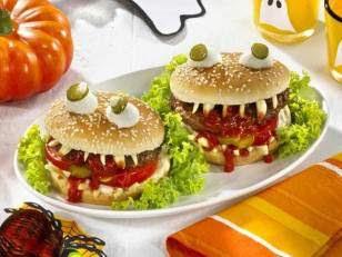хэллоуин бургер, страшный бургер