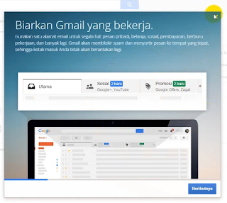 tutup pop up di gmail
