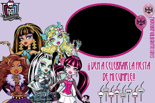 Invitaciónes cumpleaños monster high - Imagui