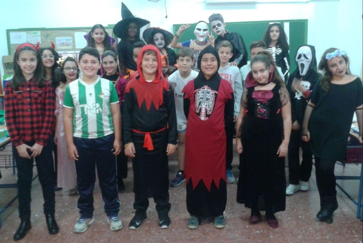 Celebración dia de Halloween curso 5ºB 2.015