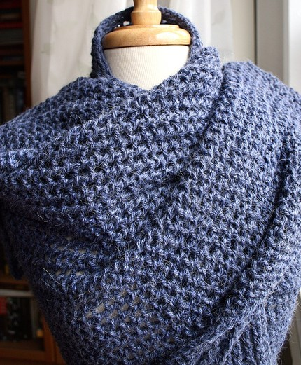 Knitting Stitches Wrap 3 : free knitting pattern: best 2012 knitting shawl patterns