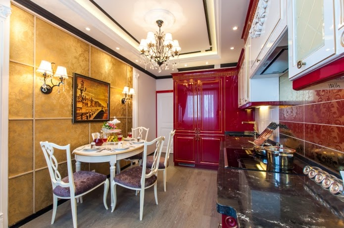 Gypsum Board False Ceiling Design For Kitchen And Dining Room
