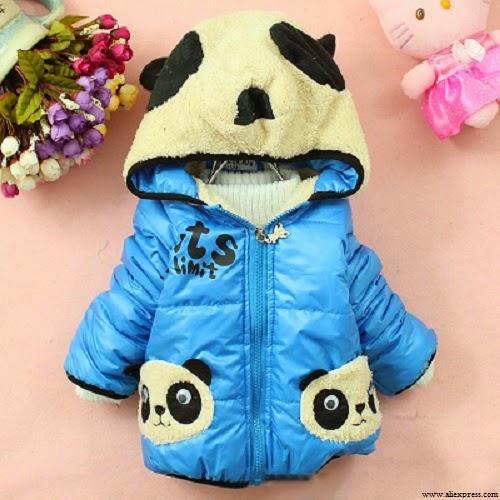 Manteau bleu bébé fille
