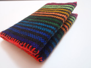 business card holder custom handmade Mexican fabric rainbow brights NellywithWings