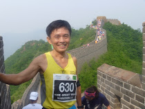 Cheow Ju scales the Great Wall of China on 19 May 2012