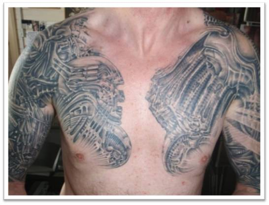 Younger Boys Shoulder and Chest Tattoos Ideas 2011-12