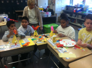 We had fun making masks for our Carnivale Celebration!