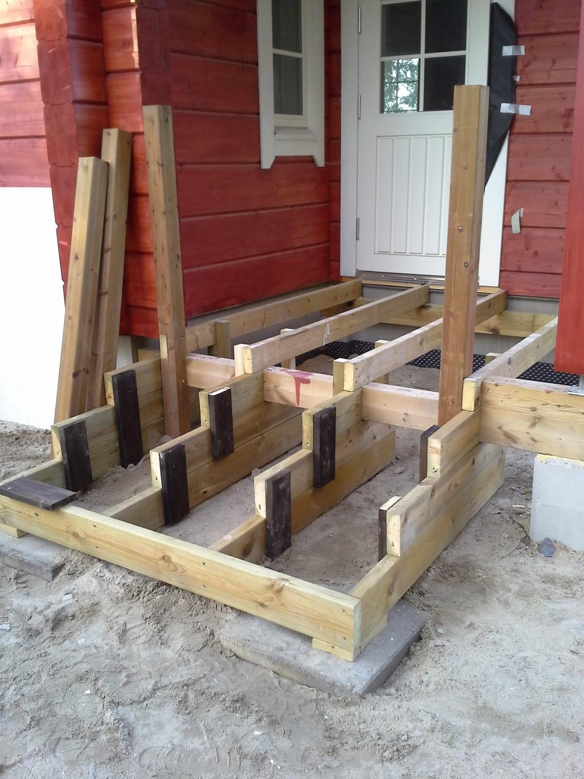 Terassin portaat rakennusohje