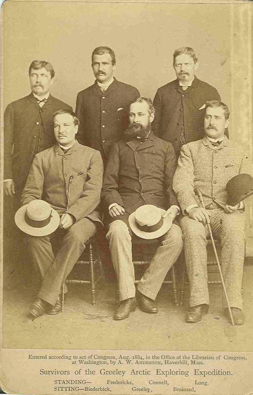 LIEUTENANT GREELY AND TEAM MEMBERS GREELY ARCTIC RELIEF EXPEDITION GENEALOGY