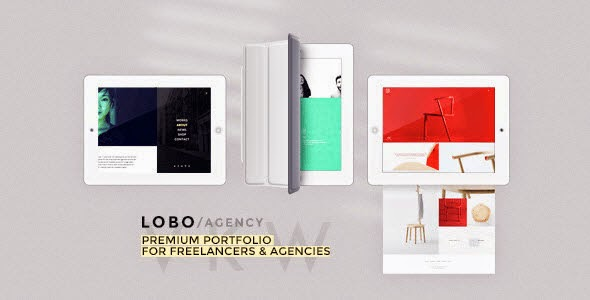 Lobo portfolio wordpress theme