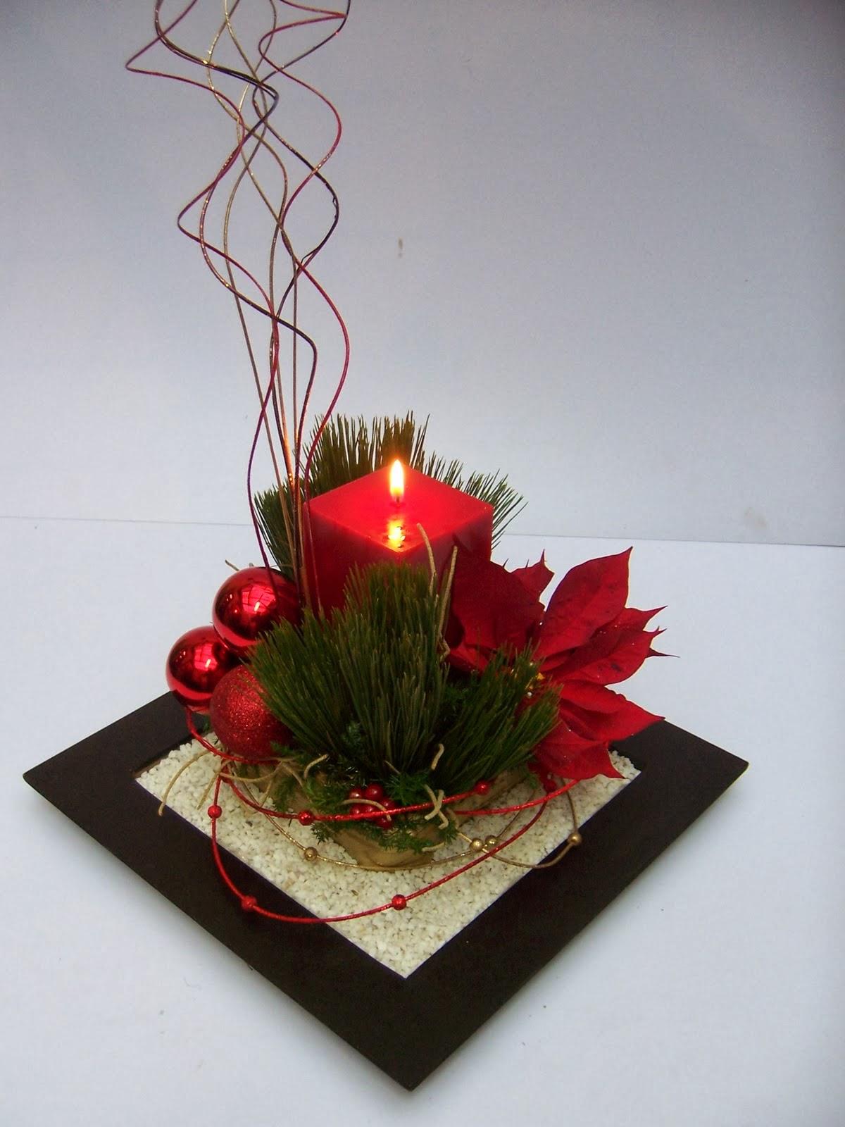 centros de mesa de navidad rojos parte 3