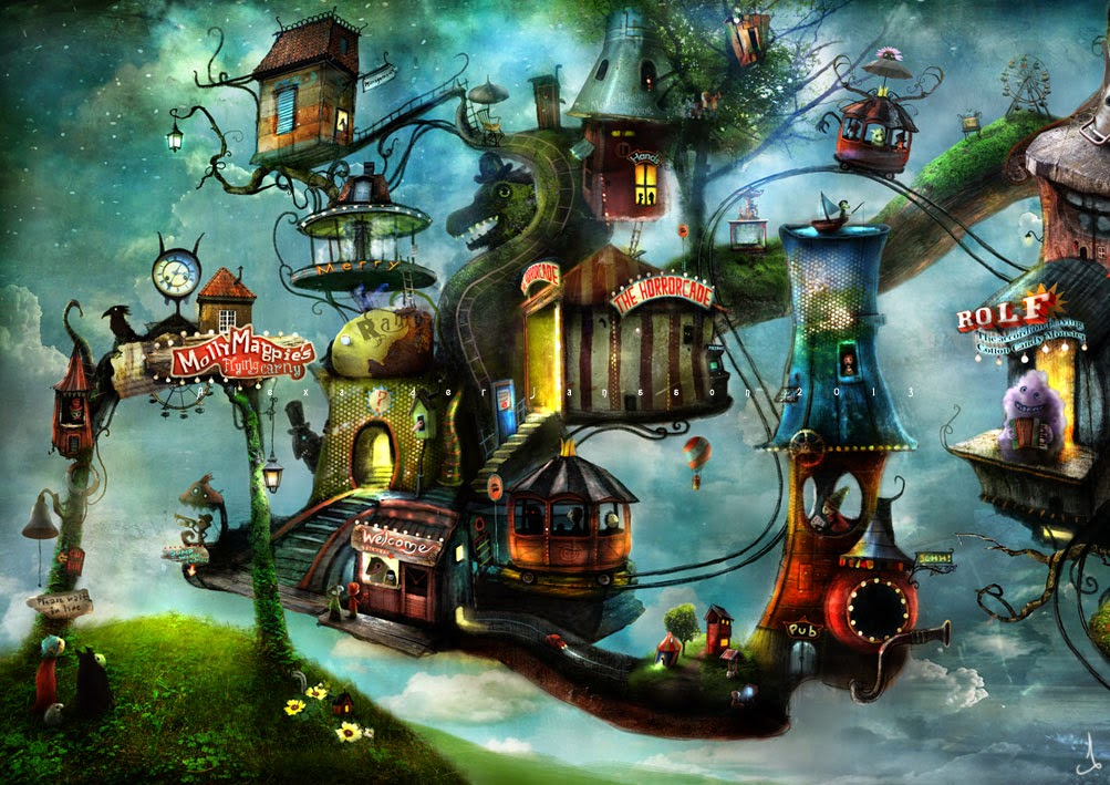 02-Alexander-Jansson-Fairy-tale-Worlds-in-Surreal-Paintings-www-designstack-co
