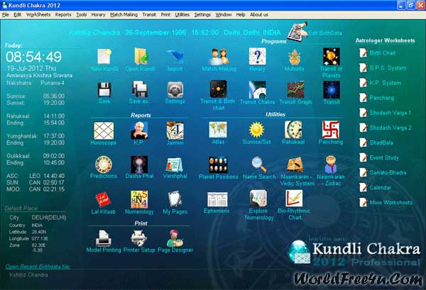 Cover OF Kundli Chakra 2012 Professional Full Latest Version Free Download At worldfree4u.com