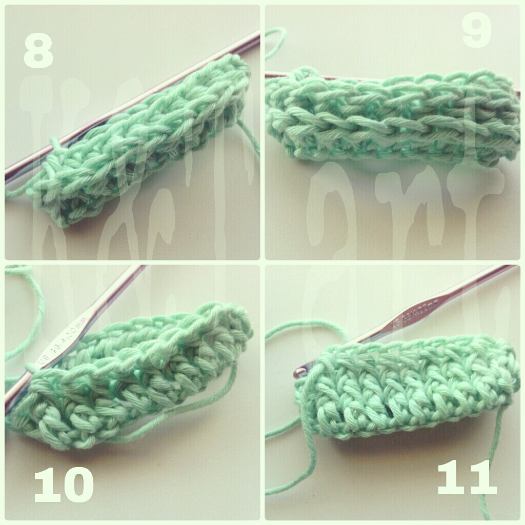 ... in the details: Front post and Back post half double crochet for hats