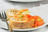 Pollo-relleno-con-salsa-de-mandarinas