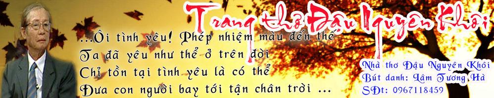 Trang thơ Đậu Nguyên Khôi