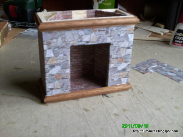 El mundo de las manualidades y la artesan a tutorial de - Como construir una chimenea paso a paso ...