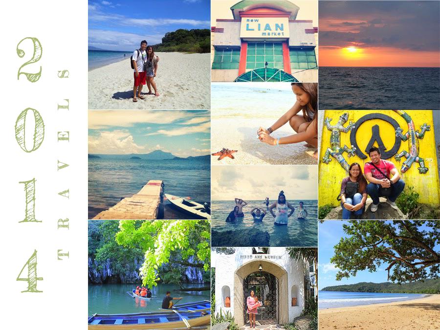 Travels 2014 | Puerto Galera, Oriental Mindoro | Burot Beach, Calatagan, Batangas | Sitio Liwliwa, San Felipe, Zambales | Taal Volcano, Talisay, Batangas | Baguio City | Pinto Art Museum, Antipolo City | Puerto Princesa, Palawan