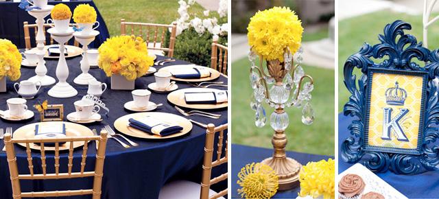 decoracao para casamento azul marinho e amarelo:Um amor de papel é especializado em organizar uma unidade para seu