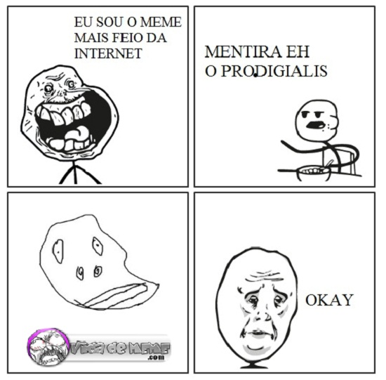 Tirinha do Blog Vida de Meme: O meme mais feio da internet