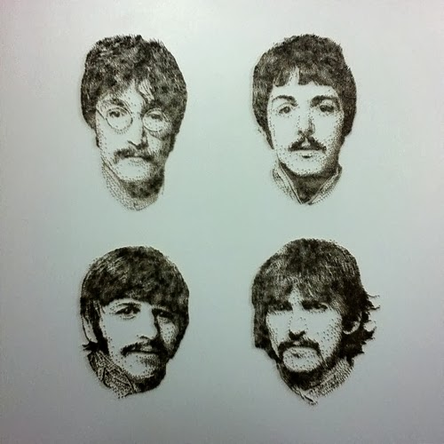 11-Beatles-David-Foster-Stippling-Art-with-Nails-www-designstack-co