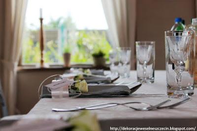 Dekoracja weselna w restauracji Chałupa w Szczecinie