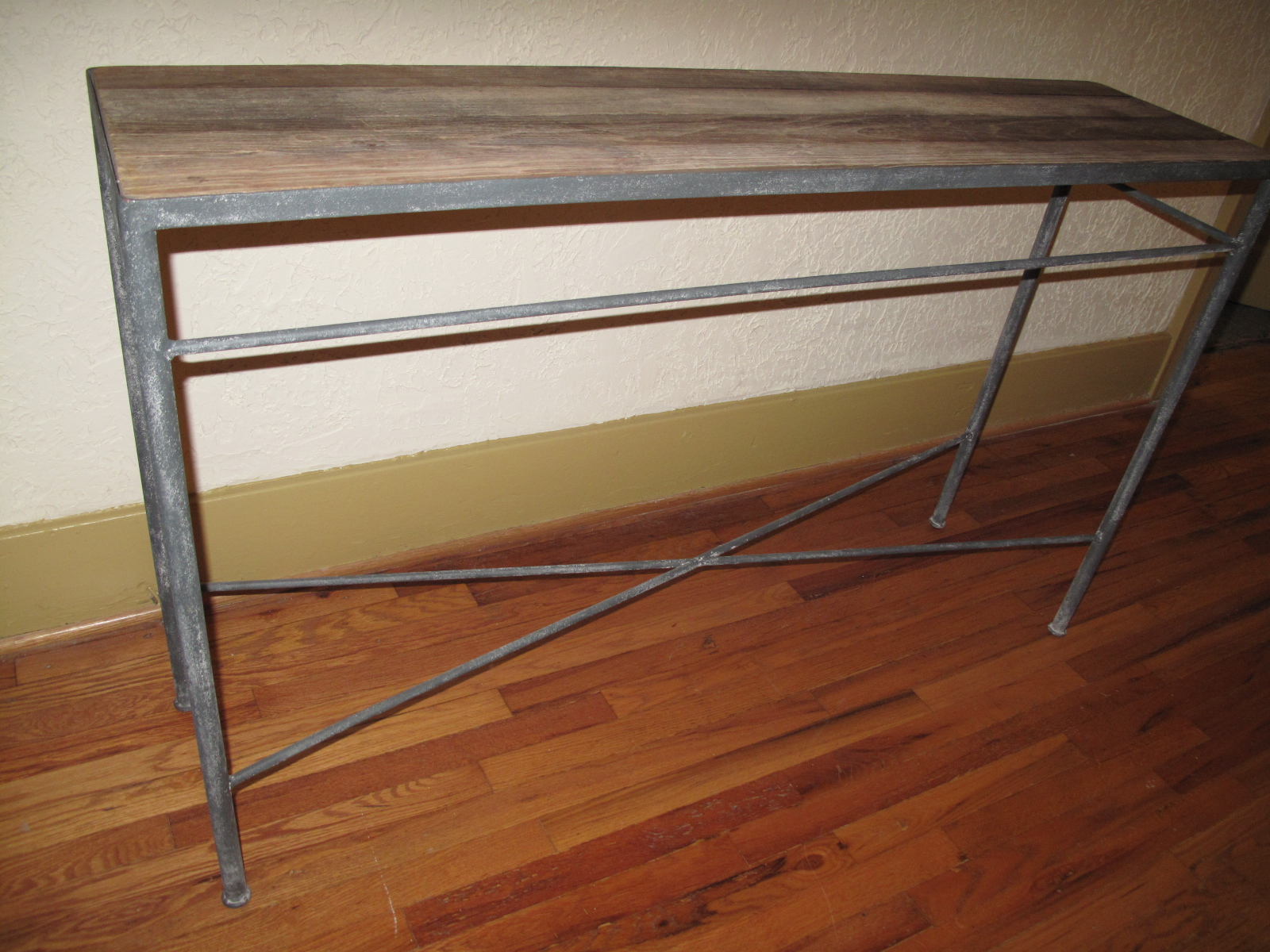 Haven and Home Industrial Console Table for Sale