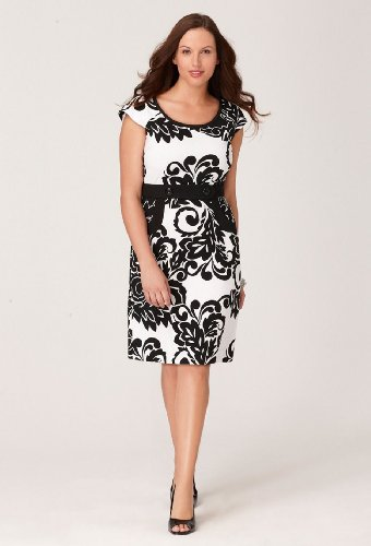 Avenue Plus Size Floral Damask Two Pocket Dress Fashions Your Like