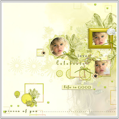 "Ma Quick Page avec le freebie du kit ""In the Dream of a Child"""