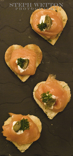 The cotswold food year canap party in cheltenham for Smoked salmon roulade canape