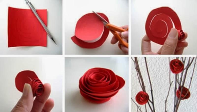 cara membuat kerajinan tangan dari bahan ketas