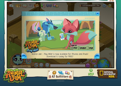 National Geographic for children, Animal Jam MMORPG, online virtual world game for children