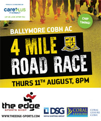 4 mile race in Cobh...Thurs 11th Aug
