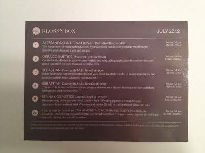 Whats in my July Glossybox