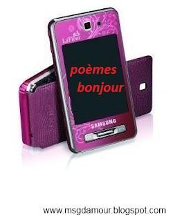 sms bonjour mon amour, poèmes bonjour