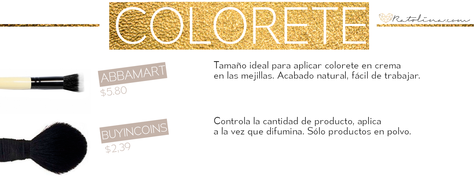 Brochas colorete low cost