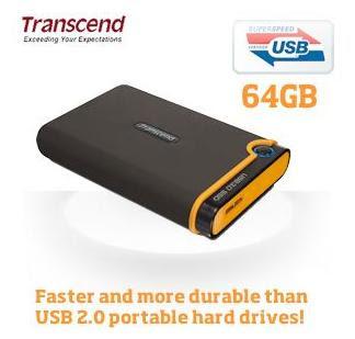 Externe Festplatte Transcend SSD 18C3 64GB mit USB 3.0 bei iBood für 85,90 Euro