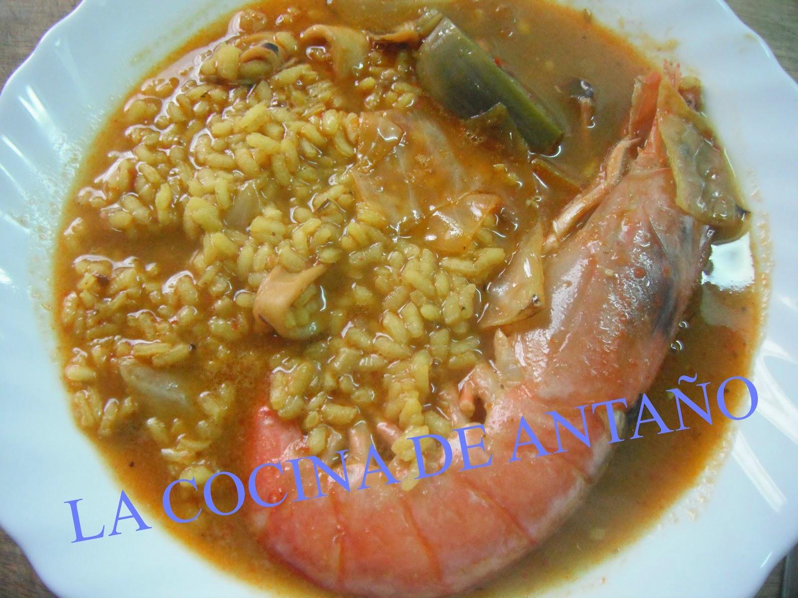 La cocina de anta o arroz caldoso con gambones y calamar - Limpiar calamares pequenos ...