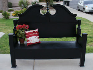 Black Shabby Chic Bench  *SOLD*
