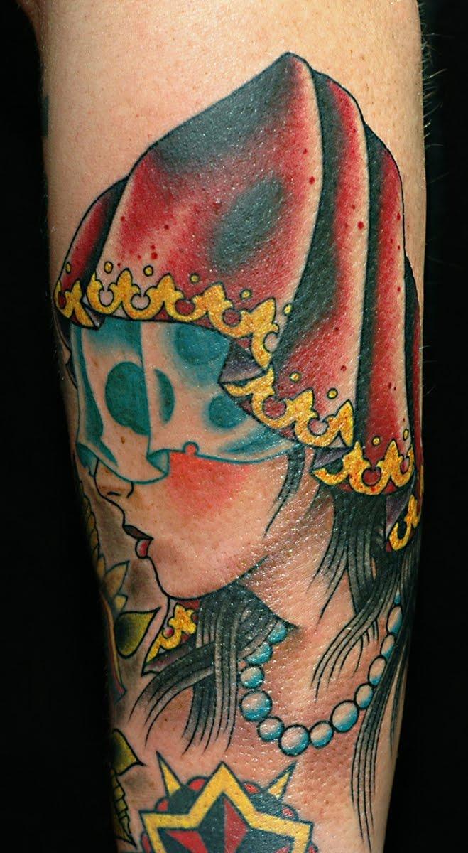 Gypsy Head Tattoo Photo Gallery   Gypsy Head Tattoo Ideas