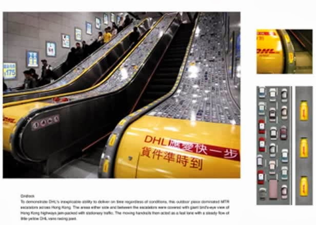 dhl Ads on sescalators