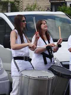 Rosie and Caroline Samba Drumming