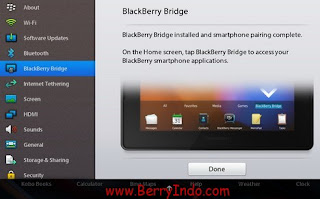 BlackBerry Bridge for PlayBook